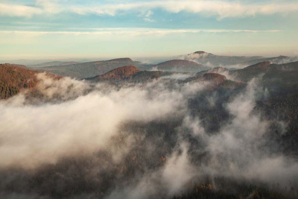 Lužické hory z výšky